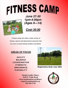 Youth Fitness Camp - Oneida Family Fitness @ Fitness Camp