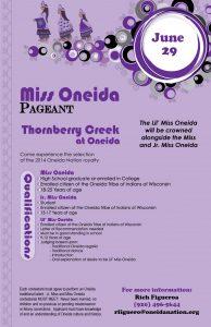 2016 Oneida Nation Royalty Pageant @ Thornberry Creek at Oneida