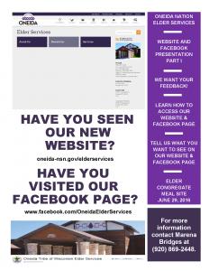 Website/Facebook Presentation Part I @ Elder Congregate Meal Site |  |  |