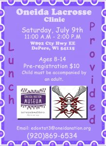 Lacrosse Clinic @ Oneida Nation Museum   De Pere   Wisconsin   United States