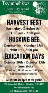 Oneida Harvest Fest @ Tsyunhehkwa Farm | Hobart | Wisconsin | United States