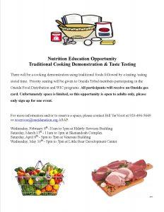 Cooking Demonstrations @ Little Bear Development Center | Oneida | Wisconsin | United States