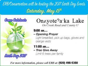 Oneida Earth Day & Tree Giveaway @ Oneida Lake | Oneida | Wisconsin | United States