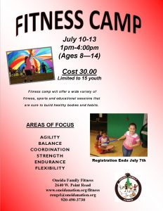 Youth Fitness Camp @ Oneida Family FItness Youth Fitness Camp | Green Bay | Wisconsin | United States
