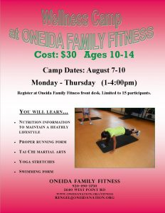 Youth Wellness Camp @ Oneida Family Fitness Youth Wellness Camp | Green Bay | Wisconsin | United States