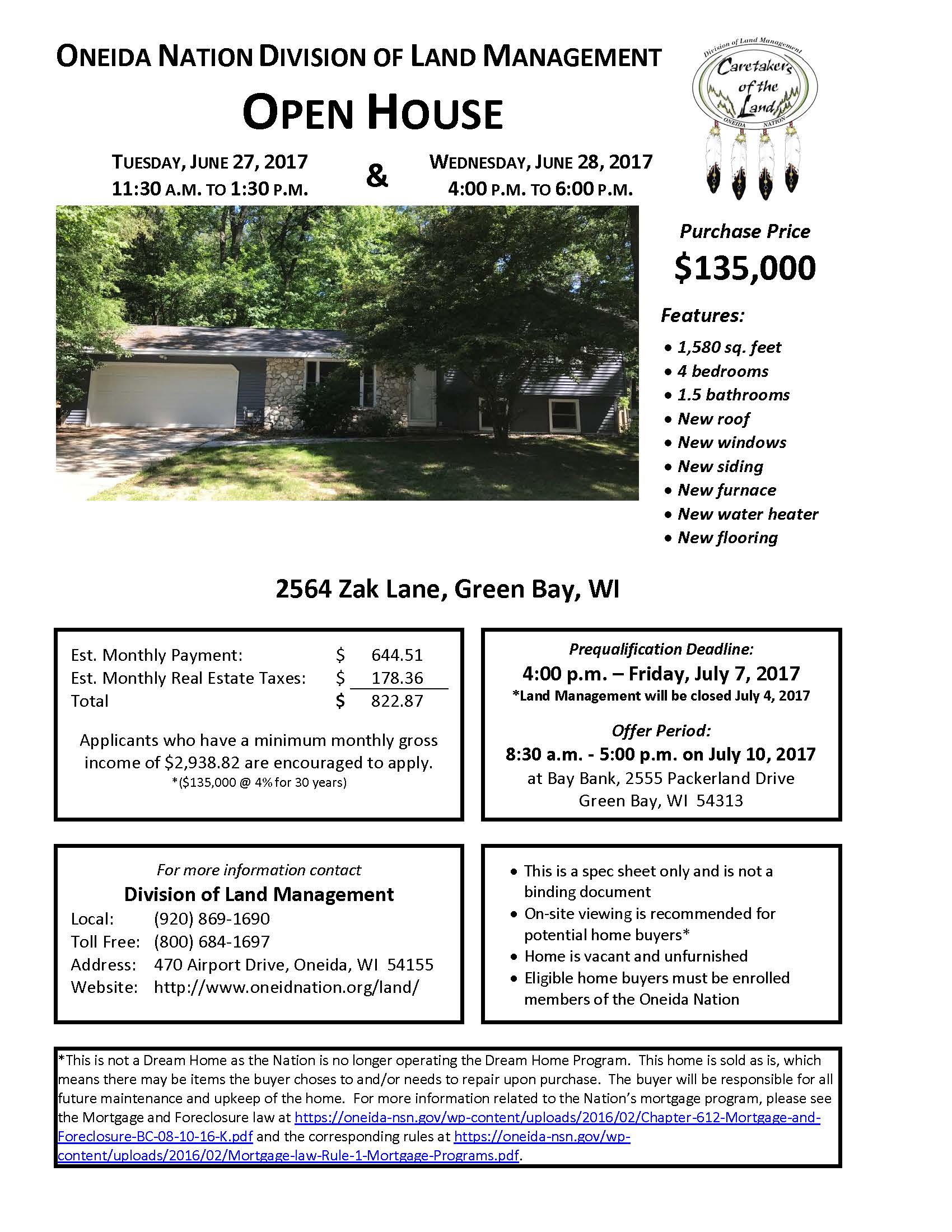 062117 OPEN HOUSE 2564 zak lane