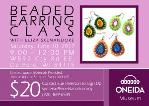 Beaded Earring Class @ Oneida Nation Museum | De Pere | Wisconsin | United States
