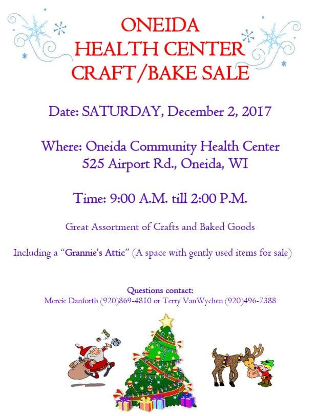 Health Center Craft/Bake Sale @ Oneida Community Health Center | Hobart | Wisconsin | United States