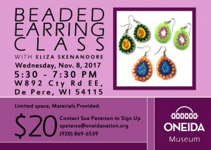 Beaded Earrings @ Oneida Nation Museum