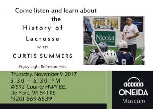 History of Lacrosse @ Oneida Nation Museum