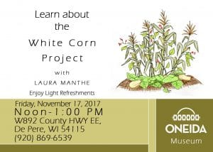 The White Corn Project @ Oneida Nation Museum