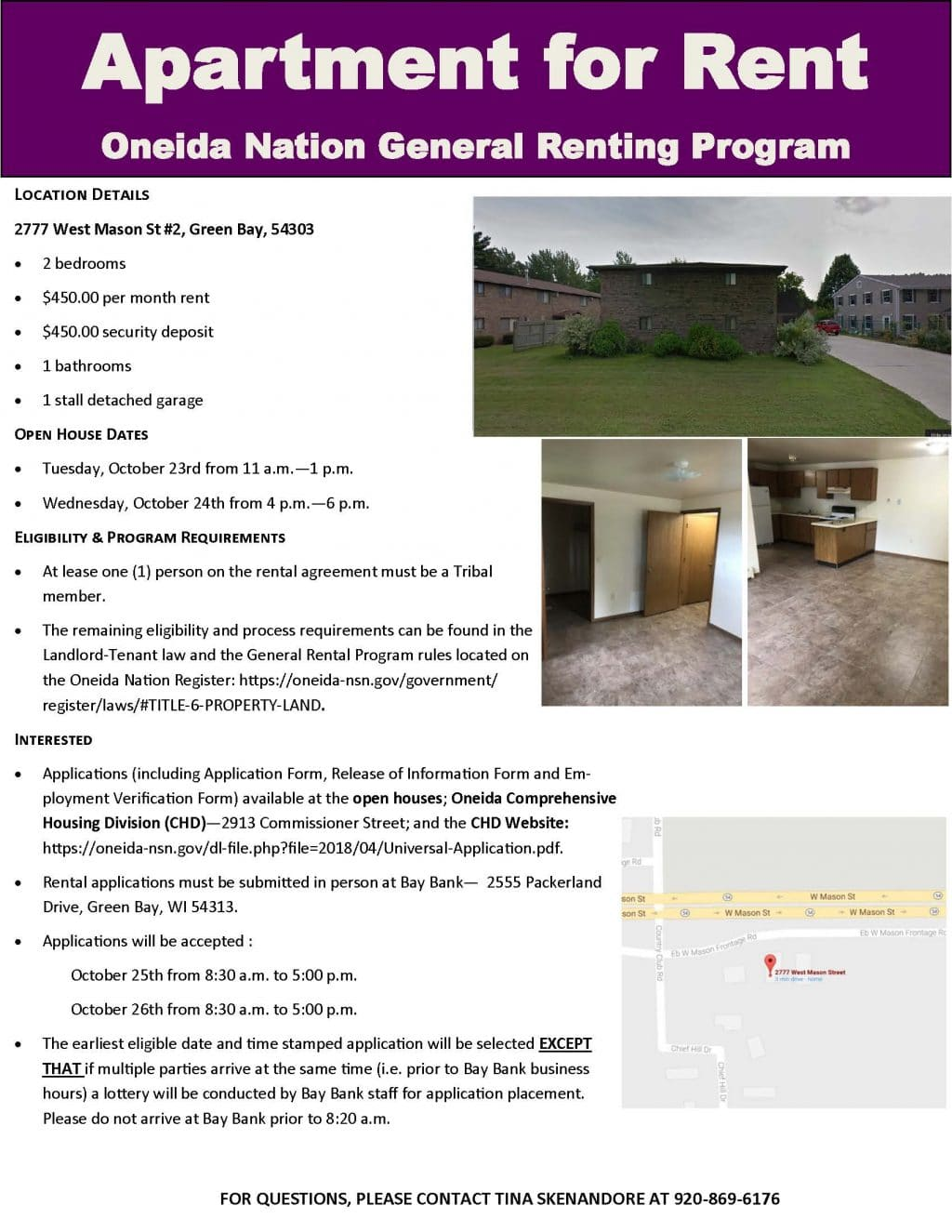 Oneida Nation Rental Opportunities