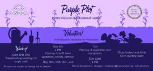 Pantry Purple Garden @ Oneida Emergency Food Pantry