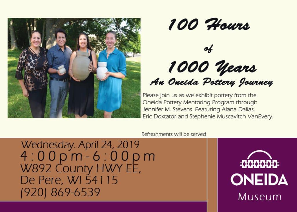 Pottery Exhibit Opening @ Oneida Nation Museum