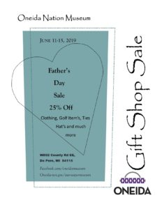 Oneida Museum Father's Day Sale @ Oneida Nation Museum