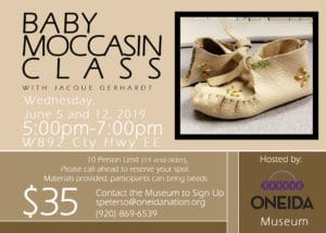 Moccasin Workshop @ Oneida Nation Museum