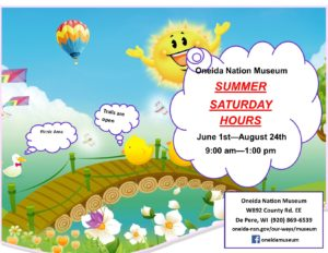 Oneida Museum Summer Hours @ Oneida Nation Museum