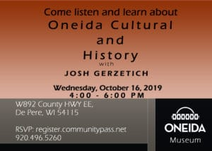 Presentation on Oneida Cultural and Hisotry @ Oneida Nation Museum