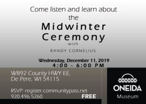 Midwinter Ceremony @ Oneida Nation Museum