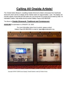 Calling All Oneida Silverwork Artists @ Oneida Nation Museum