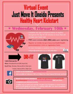 JMIO Healthy Heart Kickstart @ https://www.facebook.com/justmoveitoneida