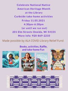 Curbside Library Take-Home Activities @ Oneida Community Library