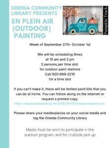 En Plein Air (Outdoor) Painting @ Oneida Community Library